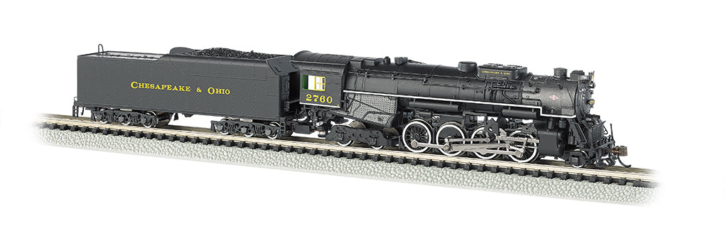Bachmann 50954 N Chesapeake & Ohio 2-8-4 Berkshire Tender w/Sound & DCC #2760