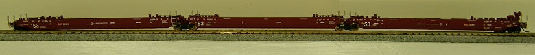 Gunderson Maxi-Stack IV 3-Unit Intermodal Well Car - Ready to Run