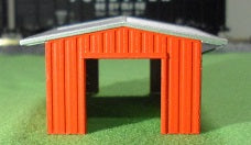 Deluxe Innovations 238-387 N Scale Ready-To-Place Armco Tractor Shed -RED
