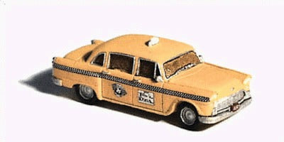 GHQ 51011 Unpainted Metal Checker Taxi Cab Kit w/Decals
