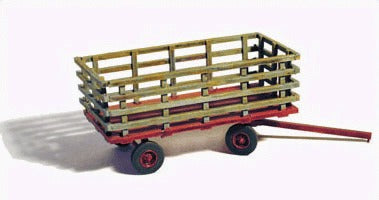 GHQ 60012 HO Farm Machinery Hay Wagon Unpainted Metal Kit