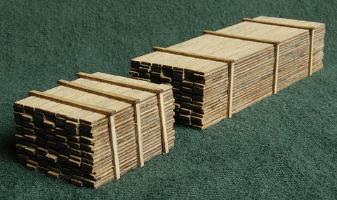GCLaser 292-13311 N Scale 3 x 12 Lumber Load One Each 8' & 20' Loads Plywood Kit