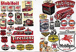 JL Innovative Design 685 N Gas Station & Oil Company Signs/Posters (Set of 41)