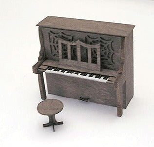 B.T.S. 23008 HO Upright Piano Laser-Cut Wood Kit w/Piano & Stool