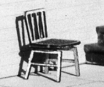B.T.S. 23016 HO Wood Chairs Straight
