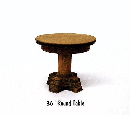 B.T.S. 23021 HO Round Table Laser-Cut Wood Kit (4) 36 91.4cm