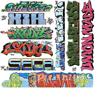 Blair Line 2260 HO Graffiti Decals Mega Set #11