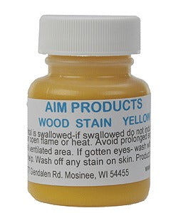 AIM 361 Oil Based Wood Stain 1oz 29.6mL Yellow