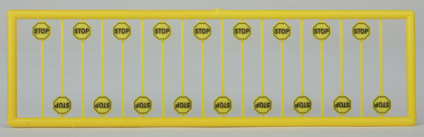 Tichy 2613 Early Yellow Stop Signs pkg (Pack of 18)