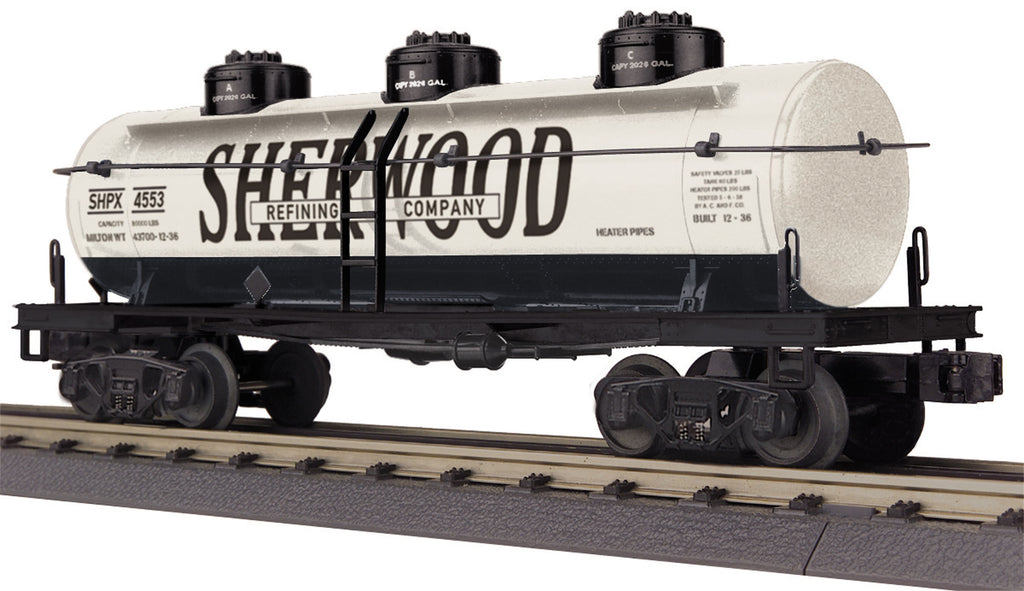 MTH 30-73422 O Sherwood Refining 3-Dome Tank Car