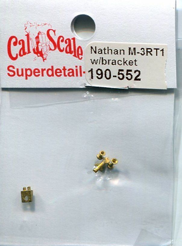 Cal Scale 190-552 HO Delaware & Hudson Nathan M-3RT1 Airhorns w/Bracket