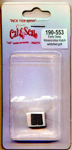 Cal Scale 190-553 HO EMD Winterization Hatch (Plastic w/Etched See-Through Grille) Early F and GP