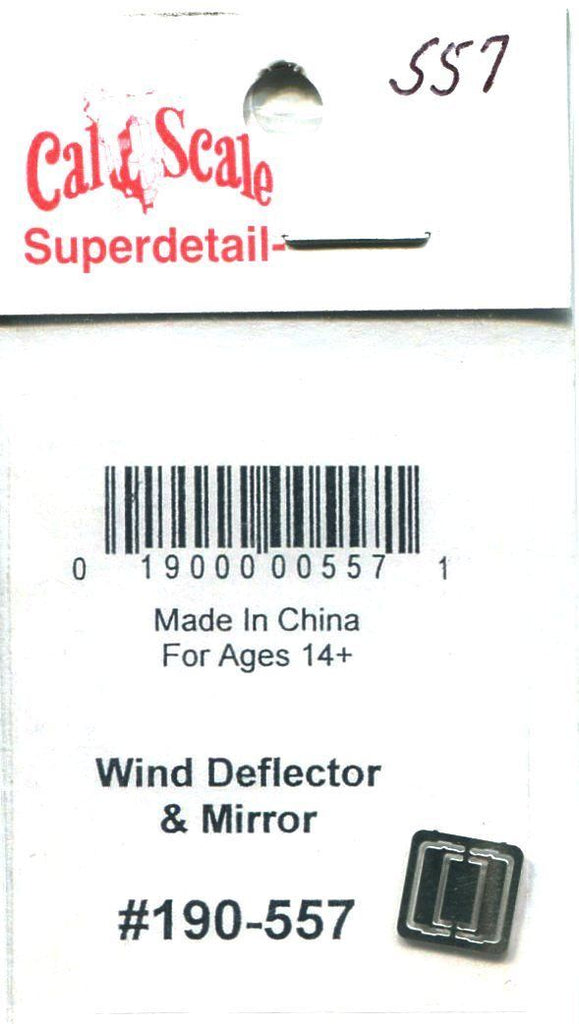 Cal Scale 190-557 HO Wind Deflector & Mirror Etched Metal (Pack of 2)