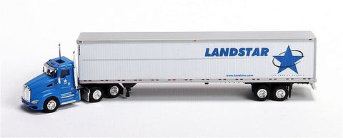 Trucks N' Stuff SP136 1:87 Kenworth T660 Truck with Day Cab and 53'  Landstar Van Trailer