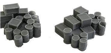 Bar Mills 1001 N Assorted Crates & Barrels Unpainted - 2 Large Groups