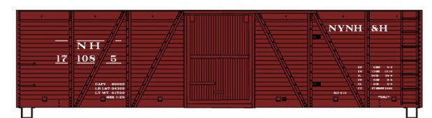 Accurail 7019 HO New Haven 40' Wood 6-Panel Outside-Braced Boxcar #171085