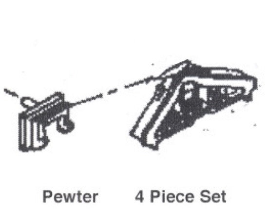 Details West 235-293 HO Scale Re-Rail Frog w/ Brackets for D&RGW UP (Pack of 4)