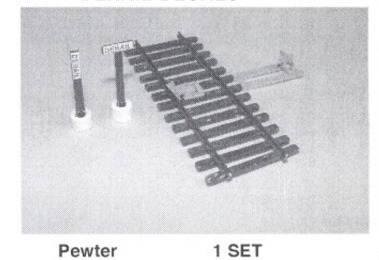 Details West 925 HO Track Derail w/Two Styles of Posts Ties Stand Decals Set