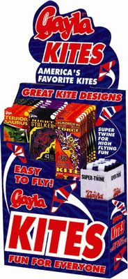 "Gayla Industries 2808 50 Assorted 42"" Delta Wing Kites & 50pcs 200' Super Twine"