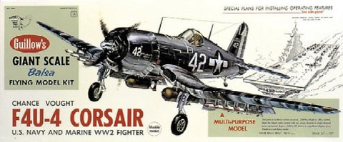 Guillows 1004 1:16 Vought F4U-4 Corsair Aircraft Kit