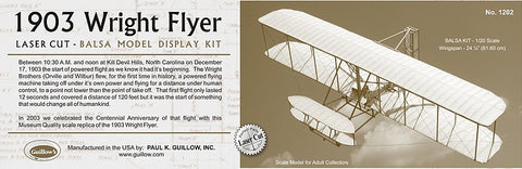 Guillows 1202 1:20 1903 Wright Flyer
