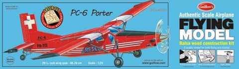 "Guillows 304 PC6 Porter 26-1/16"" Wingspan Laser Cut Kit"