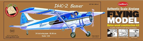 "Guillows 305 DHC2 Beaver 24"" Wingspan Laser Cut Kit"
