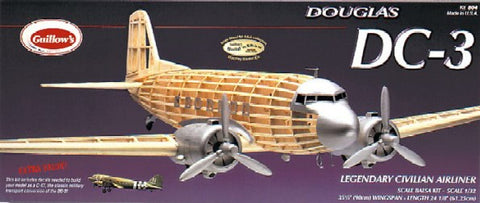 "Guillows 804 1:32 Douglas DC-3 Civilian 35-1/2"" Wingspan Kit"