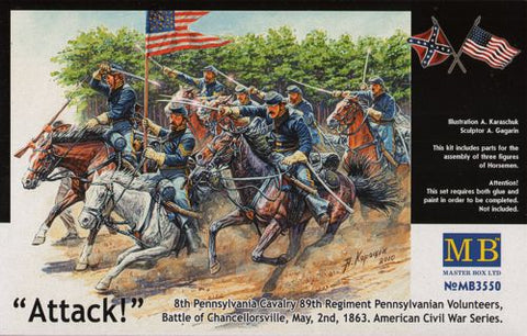 Master Box Models 3550 1:35 8th Pennsylvania Cavalry 89th Regiment