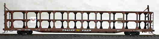 Accurail 9312 HO Gulf, Mobile & Ohio 89' Tri-Level Open Auto Rack
