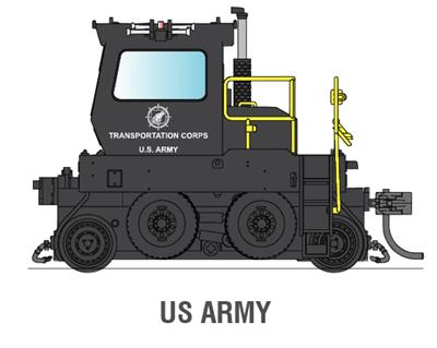 Broadway Limited 6057 HO United States Army Trackmobile™ Industrial Switcher