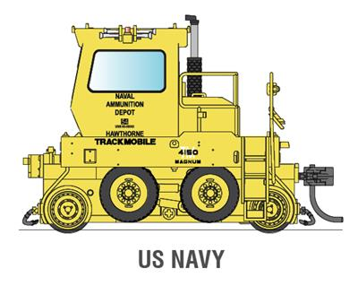 Broadway Limited 6058 HO United States Navy Trackmobile™ Industrial Switcher