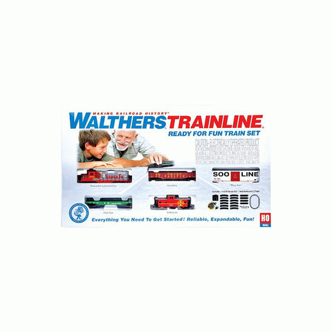 Walthers 931-870 HO Santa Fe Ready for Fun Train Set