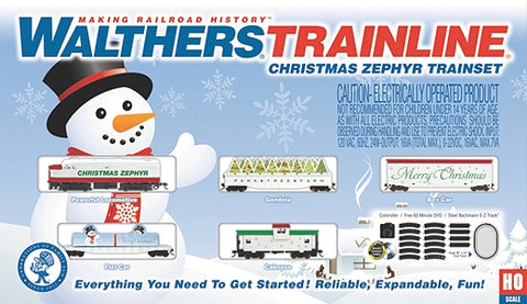 Walthers 875 HO Christmas Zephyr Train Set