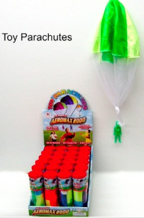 Aeromax Toys 2000A Toy Parachute with Figure in Plastic Tube