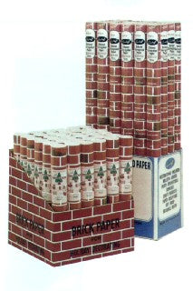 "Brick Paper 7007D Corrugated Brick Paper Display 48""x5' Roll 24 Display"