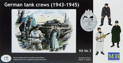 Master Box Models 3508 1:35 German Tank Crew (1943-1945)