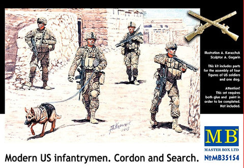 Master Box Models 35154 1:35 Modern US Infantrymen Cordon and Search