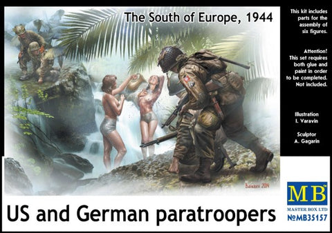 Master Box Models 35157 1:35 US and German Paratroopers The South Europe 1944