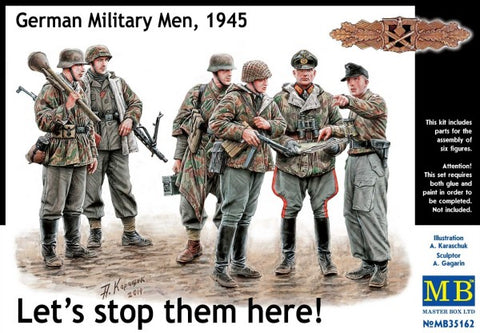 Master Box Models 35162 1:35 Let's Stop Them Here! German Military Men (6)
