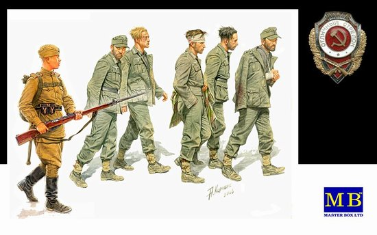 Master Box Models 3517 1:35 German Captives 1944