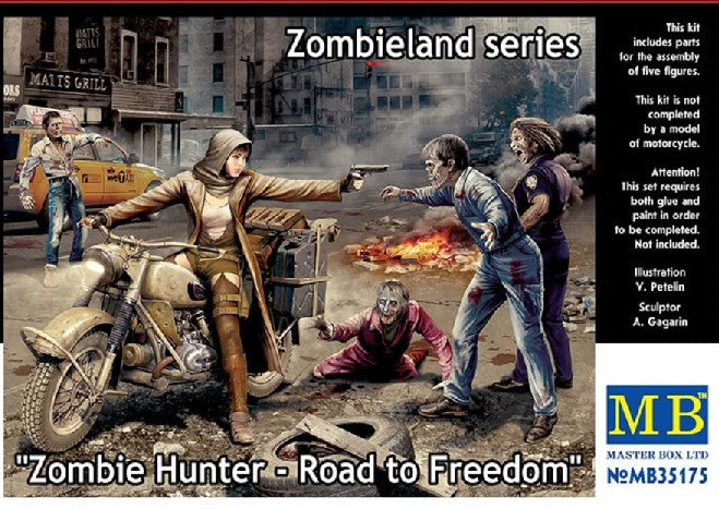 Master Box Models 35175 1:35 Zombie Hunter Road to Freedom Zombieland Series
