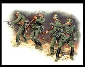 Master Box Models 3522 1:35 Frontier Fight Of Summer 1941 German Infantry (4 Figures)
