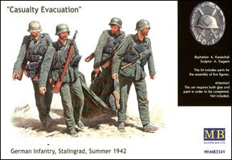 "Master Box Models 3541 1:35 ""Casualty Evacuation"" German Infantry Stalingrad Summer 1942"