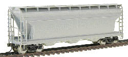 Atlas 20002925 HO Undecorated ACF 3560 Center-Flow Covered Hopper
