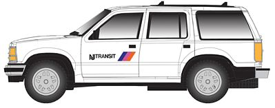 Atlas 30000090 HO NJ Transit 1993 Ford Explorer w/Rotary Beacon