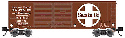 Atlas 50001925 N Santa Fe Trainman 40' Double Door Box #6348