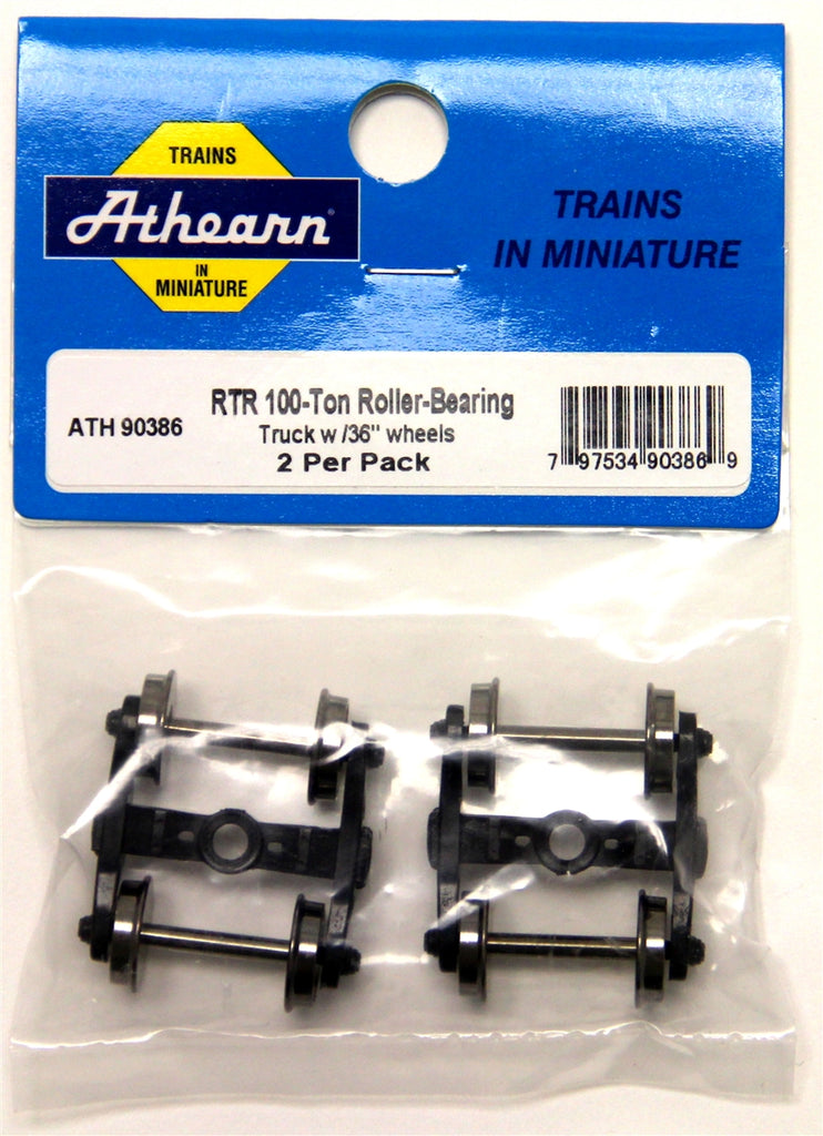 "Athearn 90386 HO Roller Bearing Truck 36"" Metals Wheels 2 per Pack"