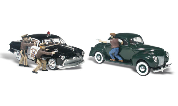 Woodland Scenics AS5540 HO AutoScenes Getaway Gangsters (Pack of 5)