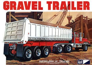 MPC 823 1:25 3-Axle Gravel Trailer Plastic Model Kit